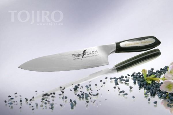 Нож кухонный Tojiro-Flash (Дамаск), 160 мм