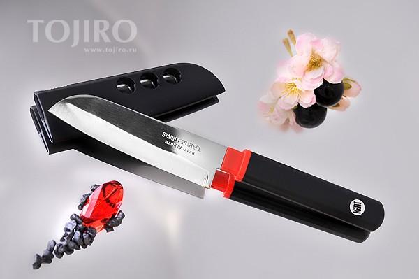 Нож для чистки овощей и фруктов (черный)