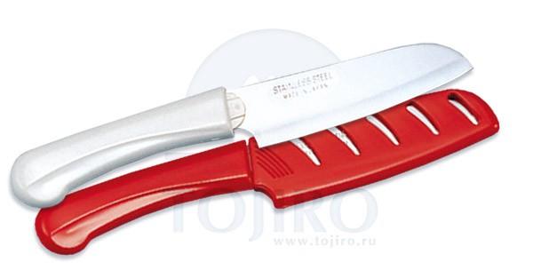 Нож для чистки овощей и фруктов (красный)