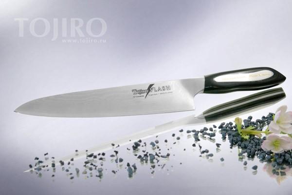 Нож кухонный Tojiro-Flash (Дамаск), 210мм